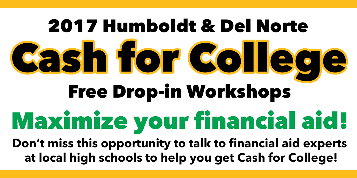 Cash for College Workshops Happening Throughout October
