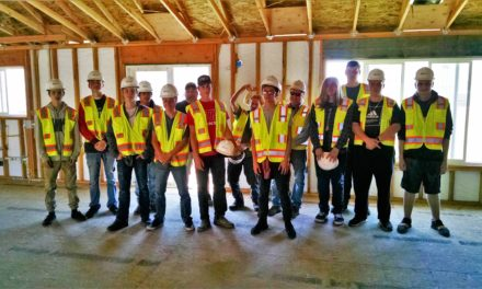 MHS Building Trades Students Visit JLF Construction Worksite