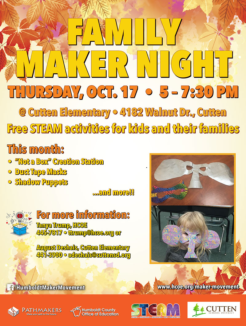 Cutten Family Maker Night Graphic