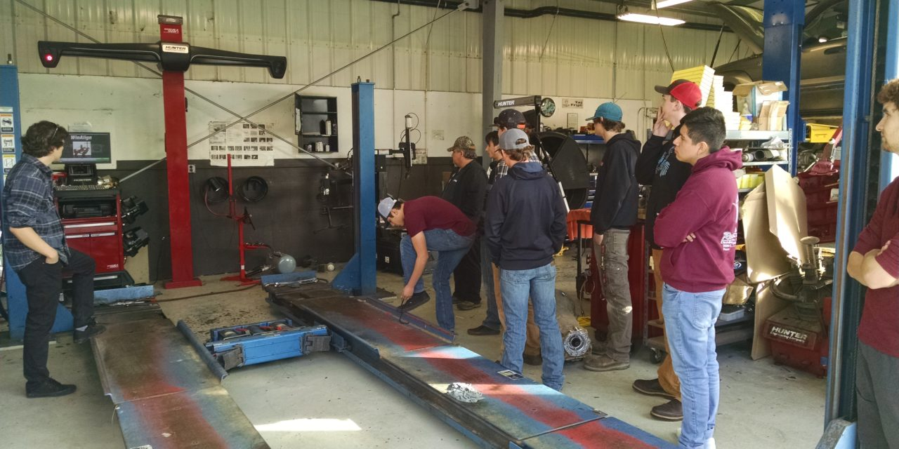 EHS Auto Shop Students Visit Lithia Dealership