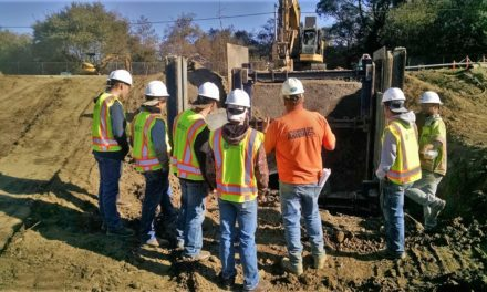 Trades Academy Students Visit Myrtle Culvert Replacement Project in Eureka